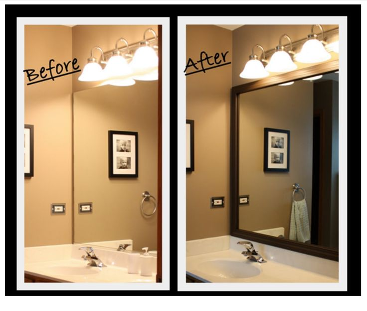 Custom frames for bathroom mirrors Frames for bathroom wall mirrors
