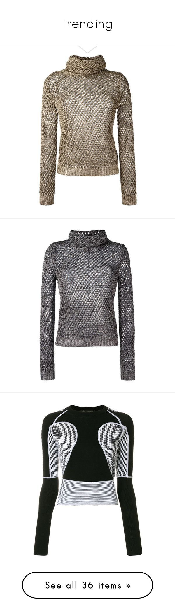 """""""trending"""" by jeniferkcarsrud ❤ liked on Polyvore featuring tops, sweaters, valentino, grey, long sleeve tops, extra long sleeve sweater, jumpers sweaters, grey jumper, gray sweater and metallic"""