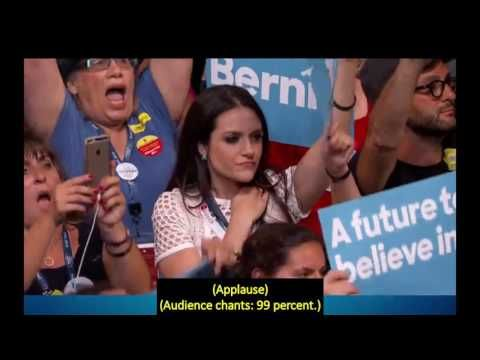 2016, July 25 – Bernie Sanders speech at DNC – open captioned with full transcript – The Closed Captioning Project LLC, sponsored by Accurate Secretarial LLC