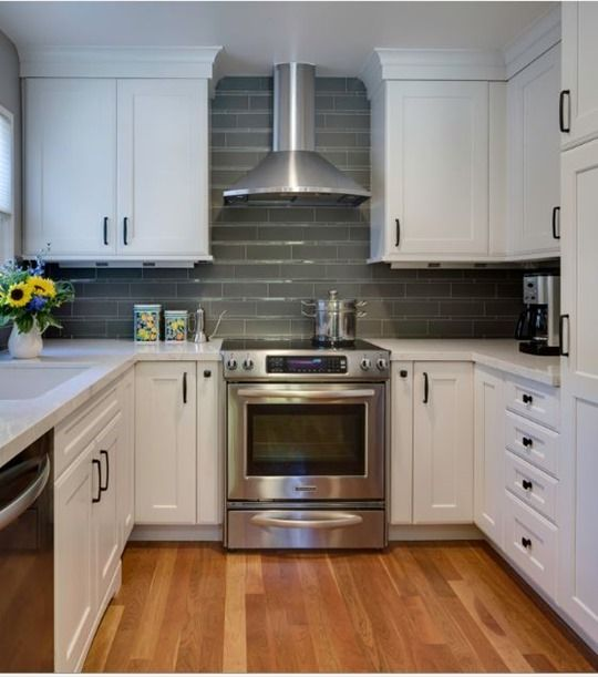 Stainless Chimney Range Hood White Kitchen