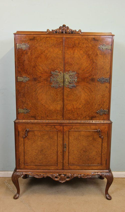 Burr Walnut Cocktail Drinks Cabinet in 2018 | Asian food | Pinterest |  Cabinet, Drinks cabinet and Antiques - Burr Walnut Cocktail Drinks Cabinet In 2018 Asian Food Pinterest
