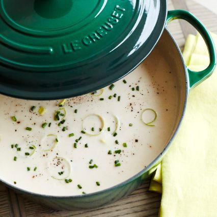 Recipes | Fennel and Leek Soup with Gruyère Croutons | Sur La Table