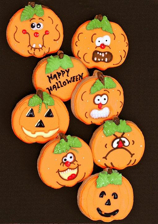 Mischievous Jack-O-Lanterns - cookies
