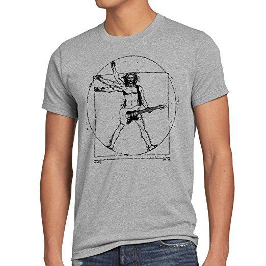 style3 Da Vinci Rock Herren T-Shirt musik festival, Größe:S;Farbe