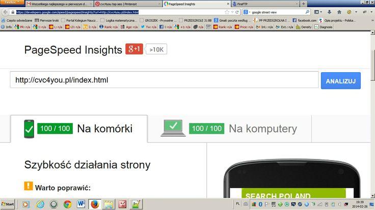 Wydajność , szybkość , wygody dla użytkowników . Platforma do tworzenia i optymalizacji serwisów internetowych . Teraz http://cvc4you.wk2.pl