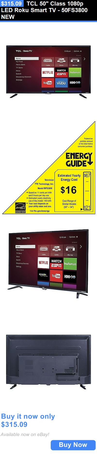 Smart TV: Tcl 50 Class 1080P Led Roku Smart Tv - 50Fs3800 New BUY IT NOW ONLY: $315.09