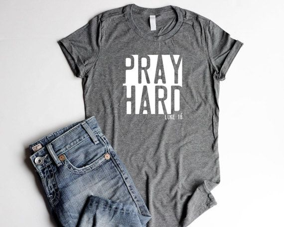 Pray Shirts Christian Women T Shirts Christian by GaffrenGraphics