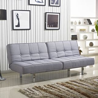 salvador grey tufted sleeper sofa bed shopping great deals on sofas - Grey Tufted Sofa