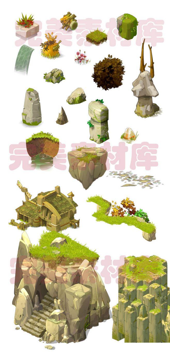 (008)游戏2D美术资源场景素材 Q版...