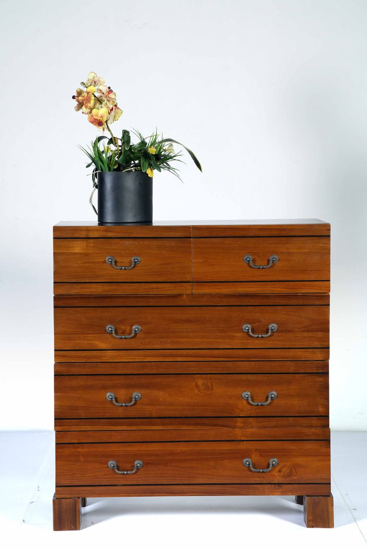 This wooden chest of drawers is finished with metal handles for a timeless, traditional feel to suit the interiors of your space. #WTPStyle #storage #home #decorate #homedecor #furniture #livingroom #bedroom