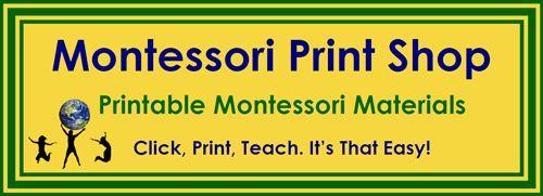 Printable Montessori Materials