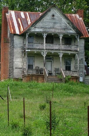 Old Farm House - I love the porches - I would love to know the stories this house could tell