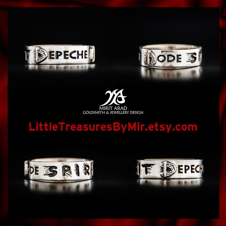 Depeche Mode sterling silver Spirit band ring by Mirit Arad at LittleTreasuresByMir.etsy.com