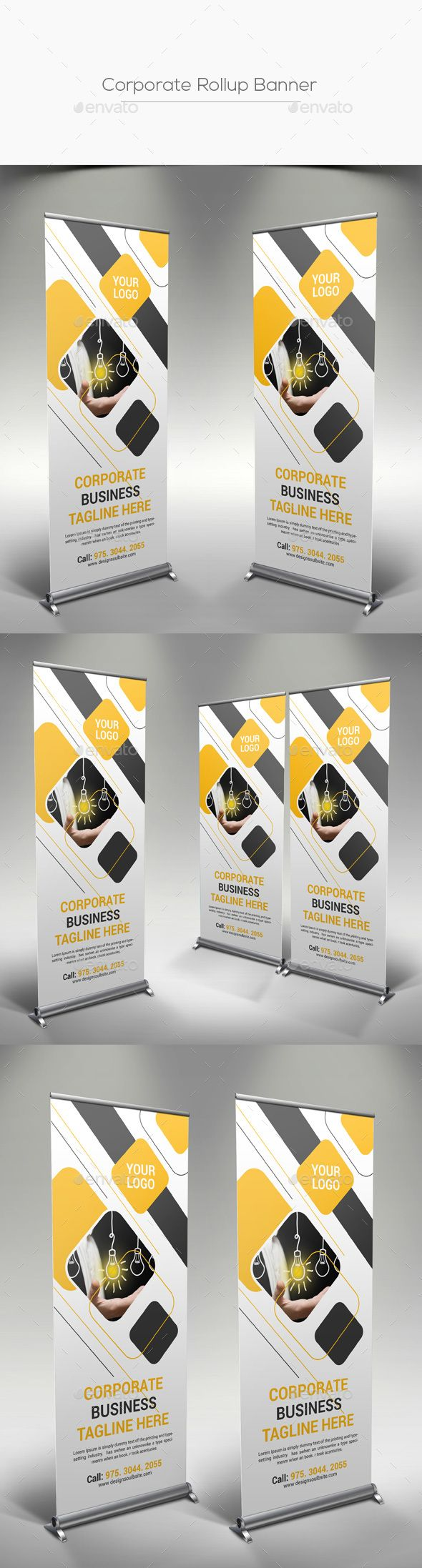 Corporate Rollup Banner Template PSD