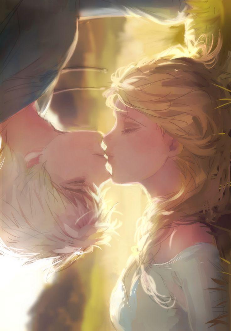 Elsa Kissing Jack Frost - Girl Games