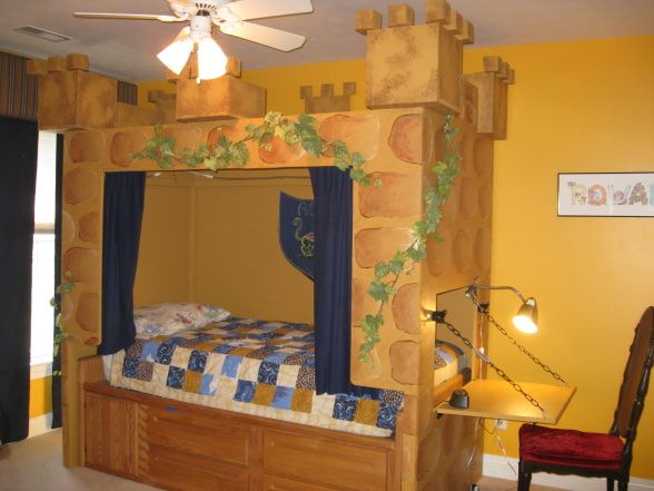 Knights Castle Bedroom My Husband Built This Castle Bed