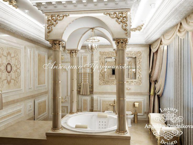 Золотая ванная - Дизайн коттеджей