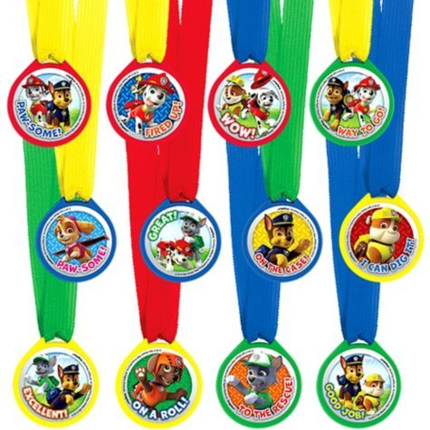 PAW Patrol Award Medals 12ct - Party City