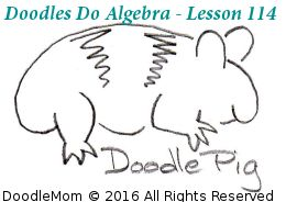 In today's lesson, DoodlePig (our fabulously intelligent guinea pig) teaches your child all three of the steps of solving a simple, first degree equation. Download this and all the previous lessons at TeachMeBetter.org by DoodleMom