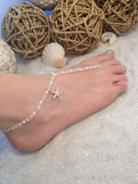 Starfish Barefoot Beach Wedding Sandal