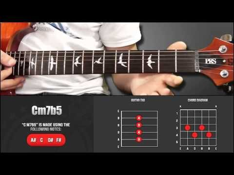 Guitar Chord Library : C Chords - Cm7b5 - YouTube