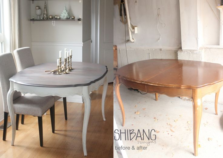 French Provincial Table Before & After :: Shibang Designs