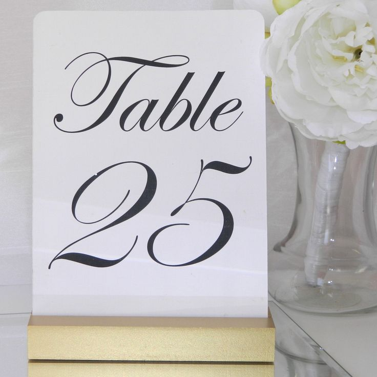Gold Table Number Holder , Table Number Holders - Gallery360 Designs, Gallery360 Designs  - 1