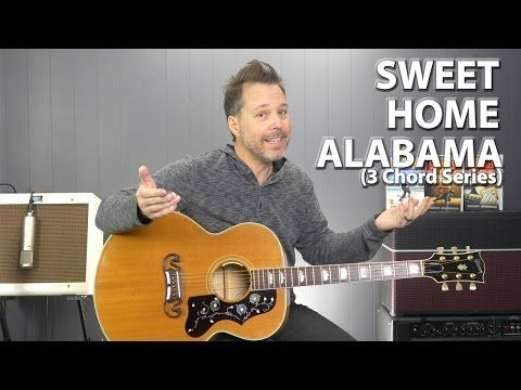 Learn How to Play Sweet Home Alabama on Guitar - Lynyrd Skynyrd - NYC Guitar School Lessons - YouTube