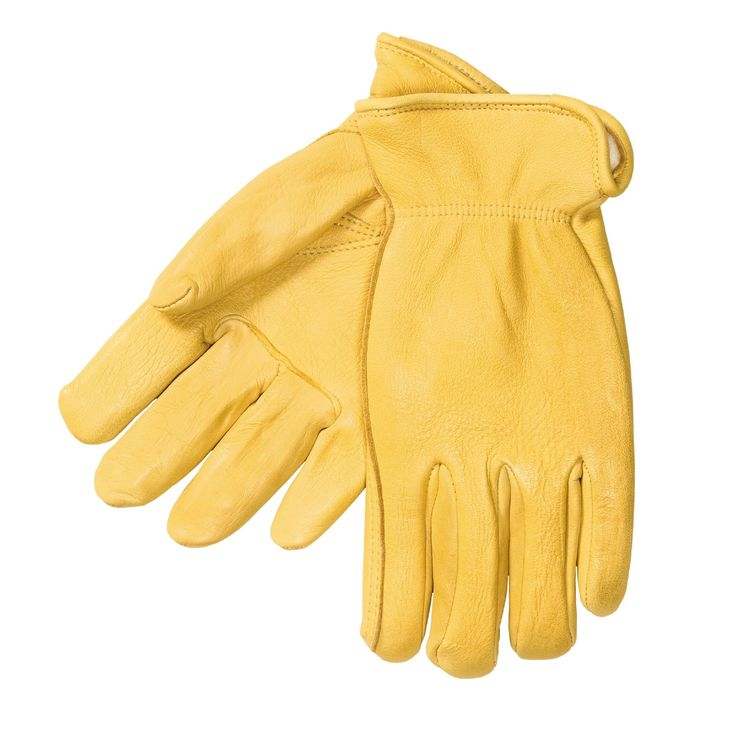 North American Trading Elkskin Leather Work Gloves - Thinsulate® (For Men) - Size L