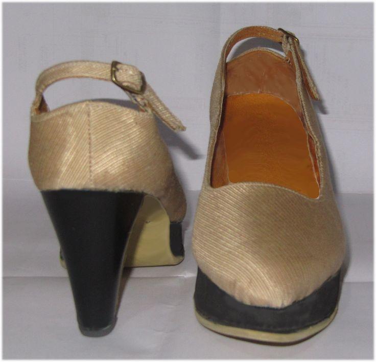 """""""Τhe Queen of Denmark"""" Comfortable high heel shoes. Heel=8cm. The Queen of Denmark is a variety of roses from the middle age."""