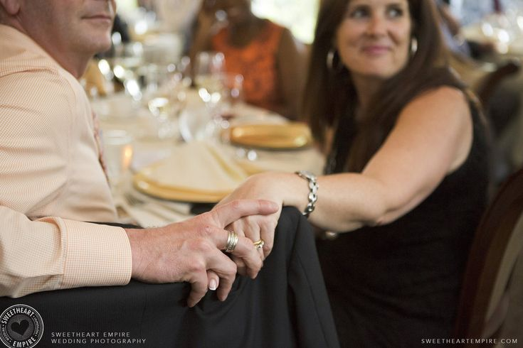Rockway Vineyards Wedding, Niagara - Guests holding hands during wedding speeches. #sweetheartempirephotography