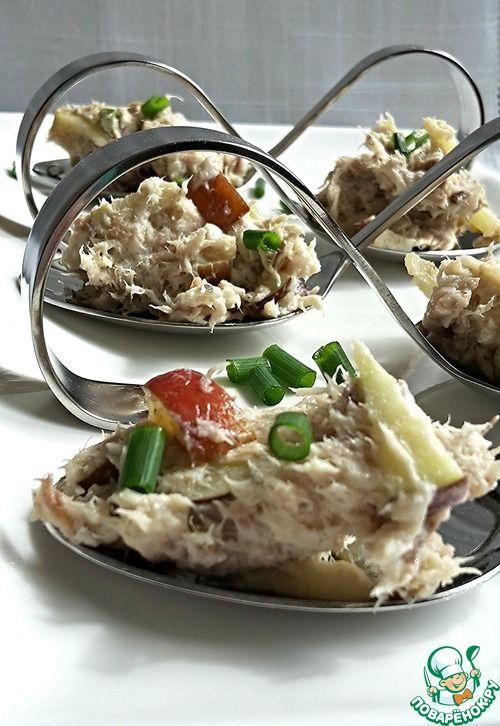 Паштет из скумбрии - кулинарный рецепт