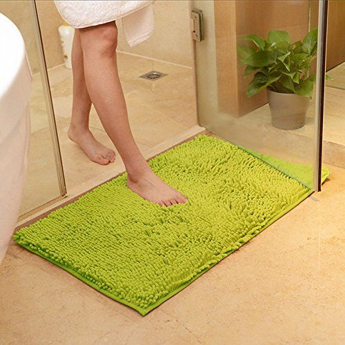 Careu Chenille Bathmats Kitchen Mats Bathroom Shag Rugs 20 32 Lime Green Bathroom Floor Mat Bathroom Carpet Padded Bath Mat