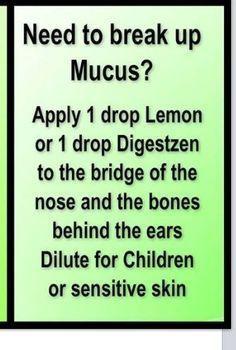 Doterra essential oils recipes for healthier living. Mucus got you down by Faby Posadas