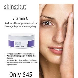 Protect your skin this summer with #skinstitut Vitamin C. Use in conjunction with Skinstitut Even Blend Serum for a radiant glow and a reduction of the appearance of pigmentation.