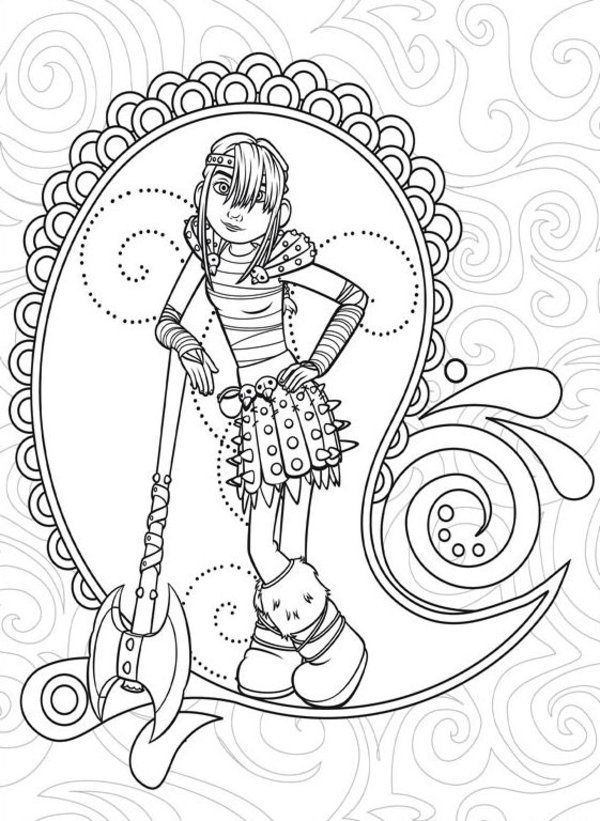 Printable Coloring Page Of How To Train Your Dragon Picture 12