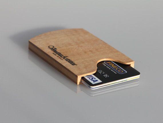 Business card holder  Credit card case  Wood di VenaturArtistica