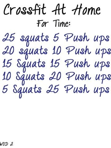 6 Crossfit workouts to do at home...: Crossfit Wod, Work Outs, Home Workouts, Exercise, Push Up, Crossfit At Home, Fitness Workout