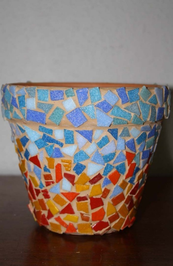 DIY Mosaic Pot