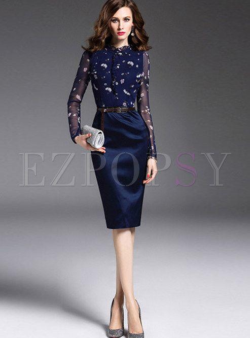 Elegant Mesh Slim Bodycon Dress
