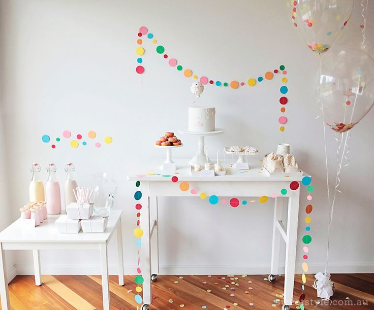 cute sprinkles and confetti birthday party / sweet style blog