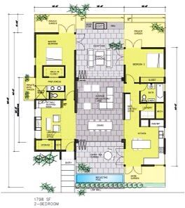 Dogtrot floorplan dogtrot house floorplan pinterest for Dogtrot modular homes