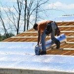 The absolute best way to beat the heat inside a new barn or other structure…lay down reflective foil before the roofing materials. http://www.insulationstop.com/metal-building-insulation