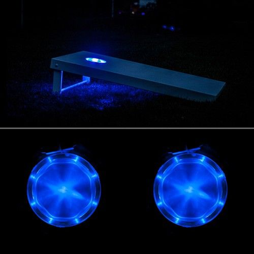 Blue Cornhole Light Set...does this make me cool or a cool redneck