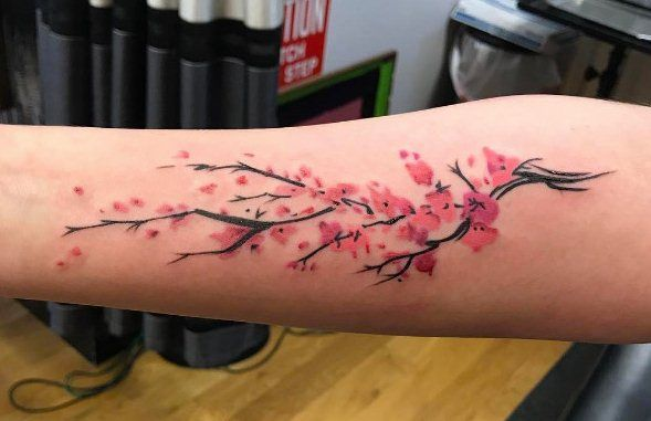 Behind The Aesthetics Of Cherry Blossom Tattoos Neck Tattoo Blossom Tattoo Cherry Blossom Tattoo