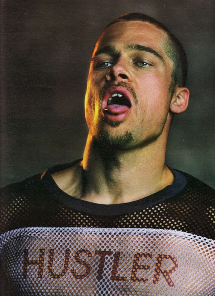 brad pitt fight club buzz cut - photo #13