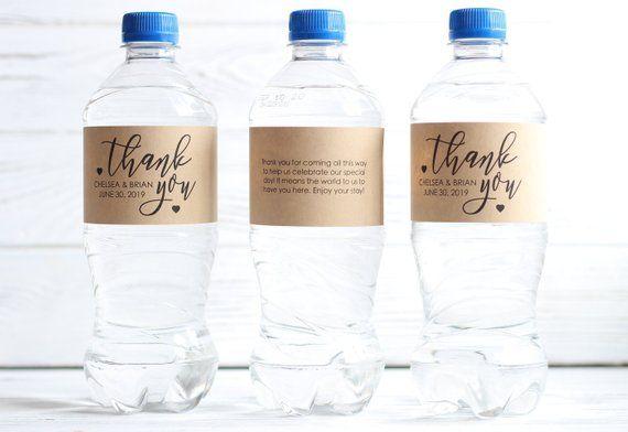Thank You Wedding Welcome Bag Wedding Water Bottle Labels Etsy Water Bottle Labels Wedding Wedding Water Bottles Water Wedding
