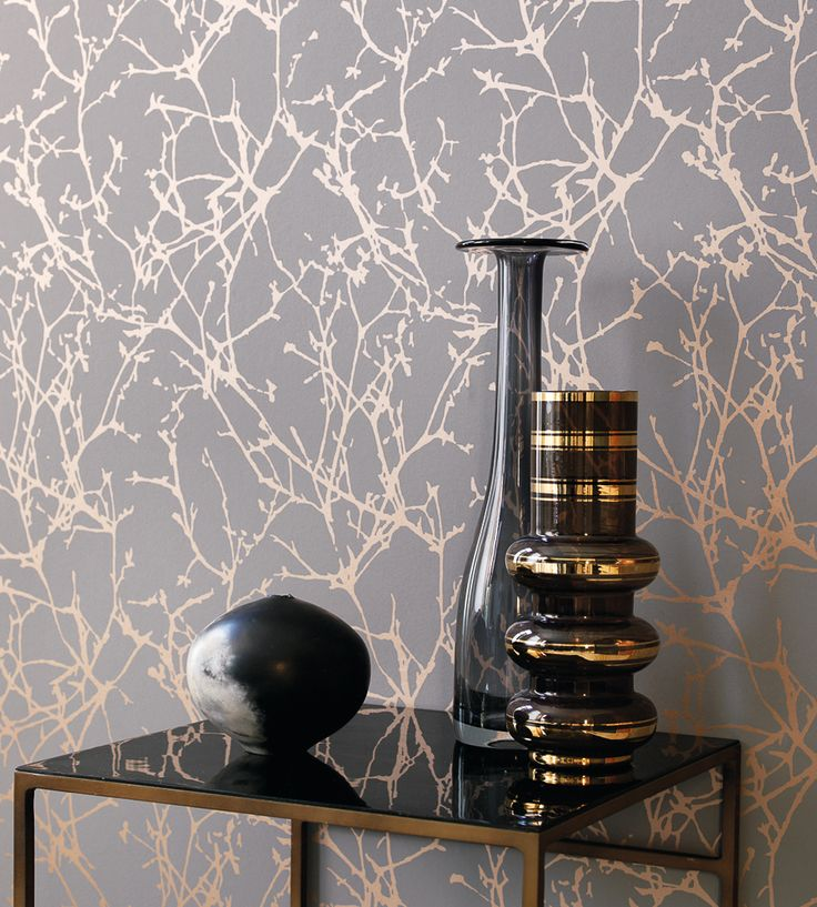 Design Classics | Metallics | Arbor Wallpaper By Romo | Jane Clayton ·  Livingroom ...