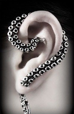 Earring  OCTOPUS Ear Cuff for RIGHT ear,original earcuff,steampunk goth earring