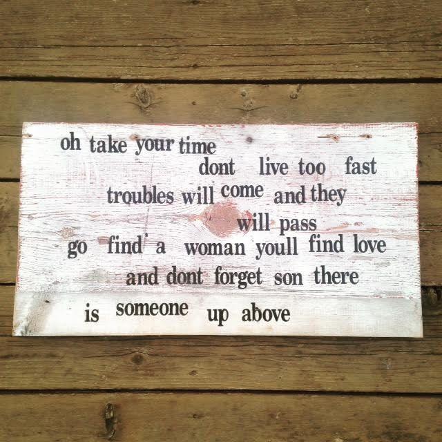 Simple Man Lyrics Barn Wood Sign, Wood Wall Art, Rustic Decor, Simple Man Wall Art, Lynyrd Skynyrd Wall Art, Shinedown Wall Art, Lyrics Sign by WarAndPieces on Etsy https://www.etsy.com/listing/496971628/simple-man-lyrics-barn-wood-sign-wood